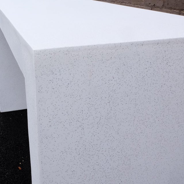 Not Yet Made - Made To Order Cast Resin 'Lynne Tell' Console Table, White Stone Finish by Zachary A. Design For Sale - Image 5 of 7