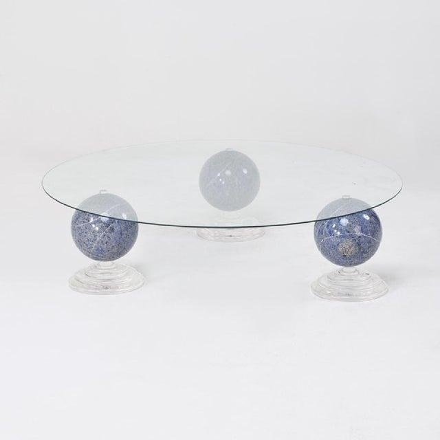 "Lapis Lazuli ""Tri-Orbic"" Coffee Table, C. 1983 - Image 2 of 9"
