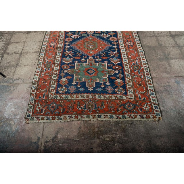 Islamic Caucasian Kazak Tribal Design Runner Rug - 4′ × 12′11″ For Sale - Image 3 of 10