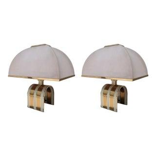 A Pair of Romeo Rega Table Lamps, Italy 70'