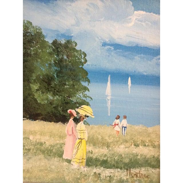 Original Vintage Impressionist Painting by Montrec For Sale - Image 5 of 6