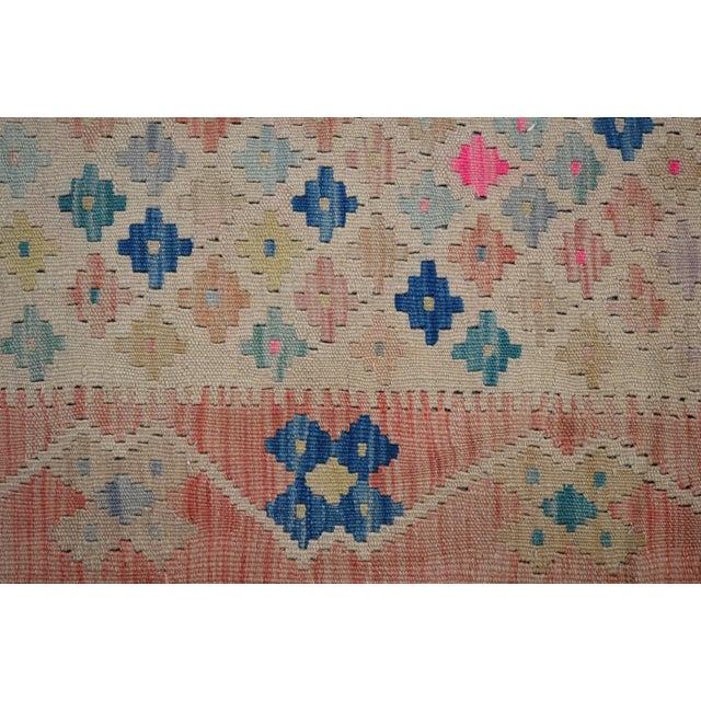 Vintage Geometric Maimana Wool Kilim Rug - 6'9″x10'1″ For Sale In New York - Image 6 of 9