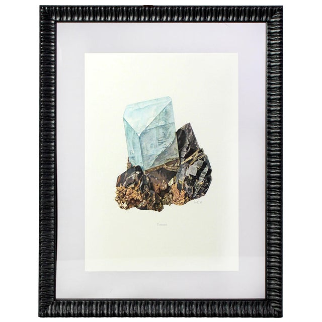Antique French Gemstone Mineralogy Study Lithographs Prints - Set of 10 For Sale - Image 10 of 13