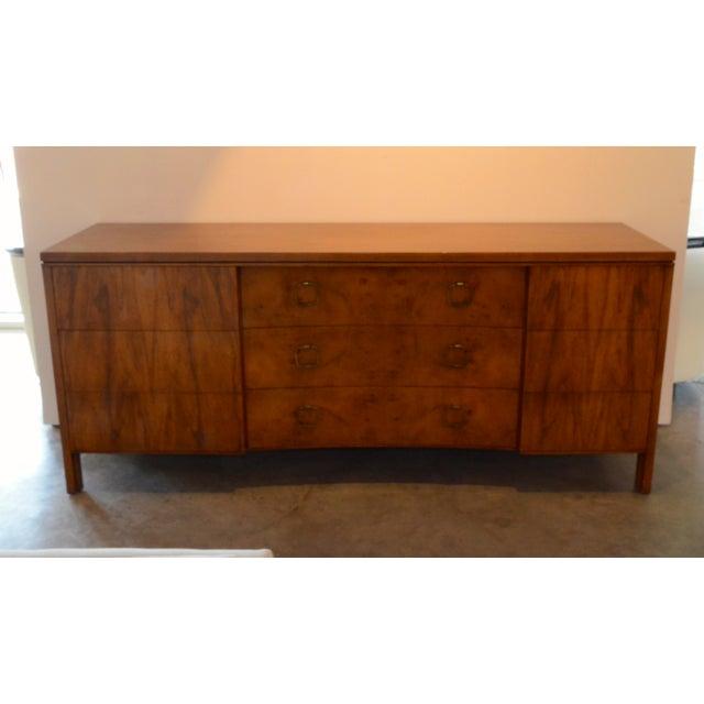 John Stuart for Widdicomb Walnut Dresser with Brass Pulls - Image 3 of 8