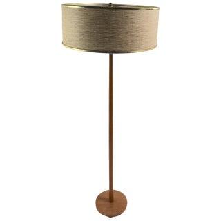 Teak Floor Lamp Made in Sweden For Sale