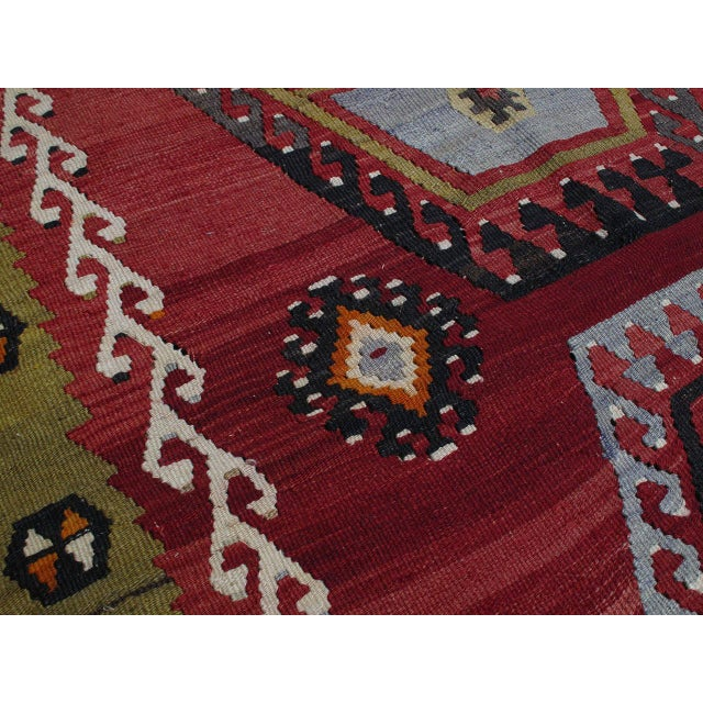1950s Sharkisla Kilim For Sale - Image 5 of 8