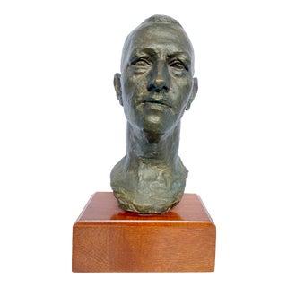 Modernist Bronze Bust by Ernest Elie Morenon For Sale