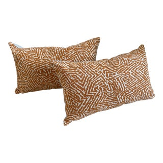 Kaiko by Romo Animal Print Bolster Pillow Covers - A Pair For Sale