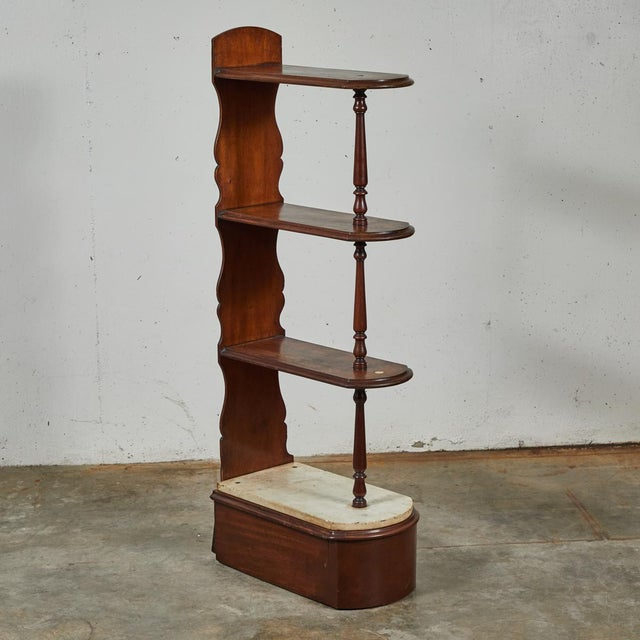 Late 19th Century English Chemist Mahogany Shelf For Sale In Los Angeles - Image 6 of 12