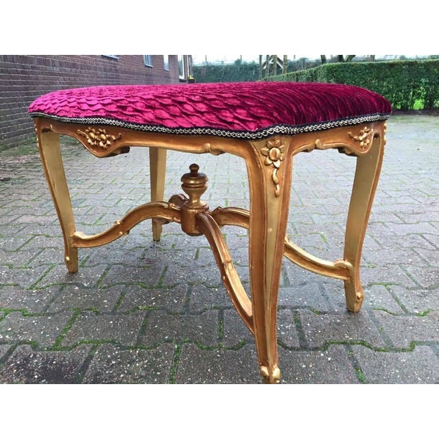 Bed Bench in Louis XVI Style with Gold Leaf - Image 6 of 6