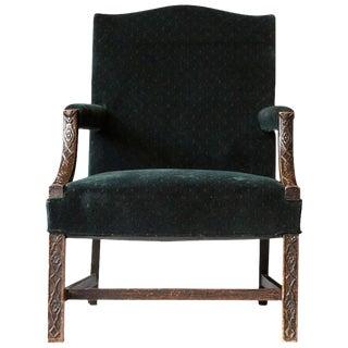 George III Carved Mahogany Marlborough Armchair For Sale