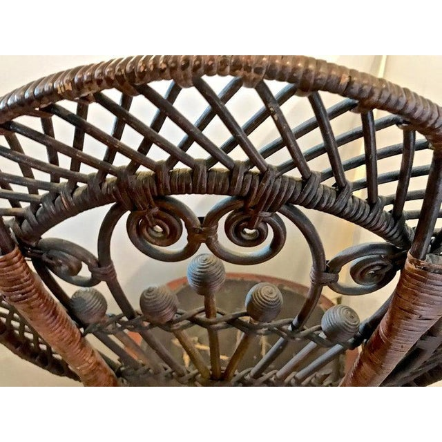 Wicker Heywood Wakefield Rocking Chair For Sale - Image 7 of 10