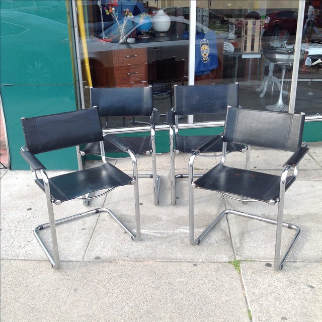 Mark Stam Vintage Cantilever Arm Chairs - Set of 4 - Image 2 of 8