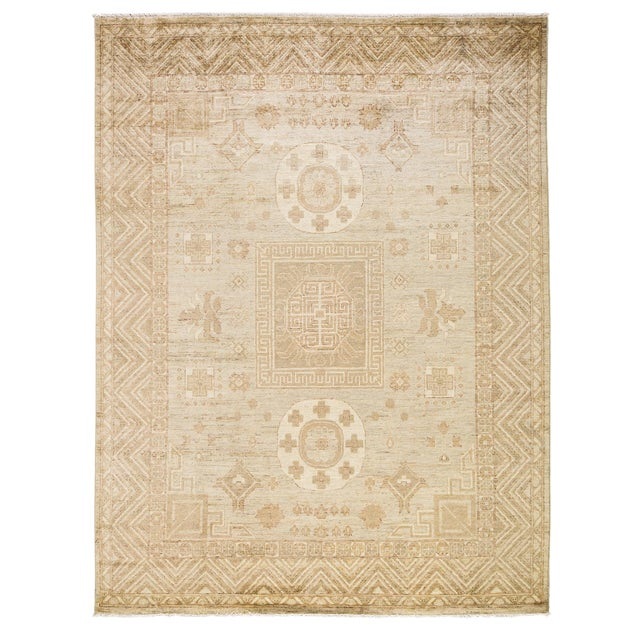 """New Khotan Hand-Knotted Rug - 8'1"""" x 10'3"""" - Image 1 of 3"""