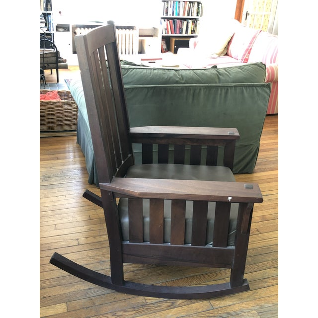 2000 - 2009 Handmade Mission Style Rocking Chair For Sale - Image 5 of 6