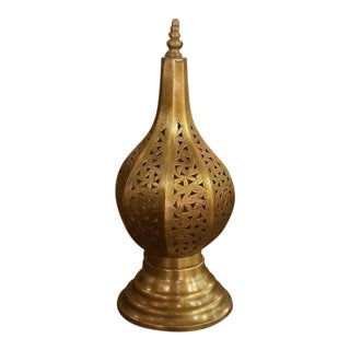 Casa Sword Shape Moroccan Copper Table Lamp For Sale