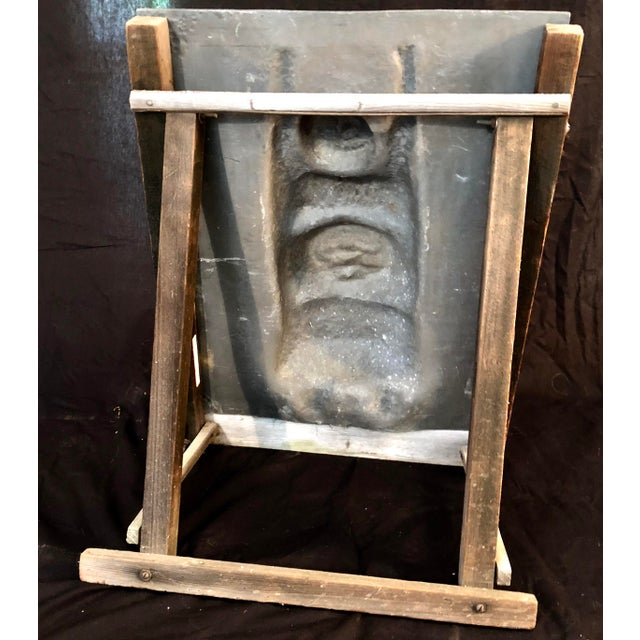 Gray Figural Sculpture in Lead Attributed to Leonard Baskin For Sale - Image 8 of 10
