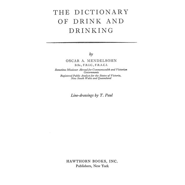 """The Dictionary of Drink and Drinking"" Cocktail Book - Image 3 of 4"