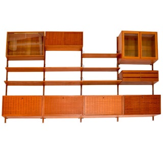 1958 Danish Teak Cado Wall Unit by Poul Cadovius For Sale
