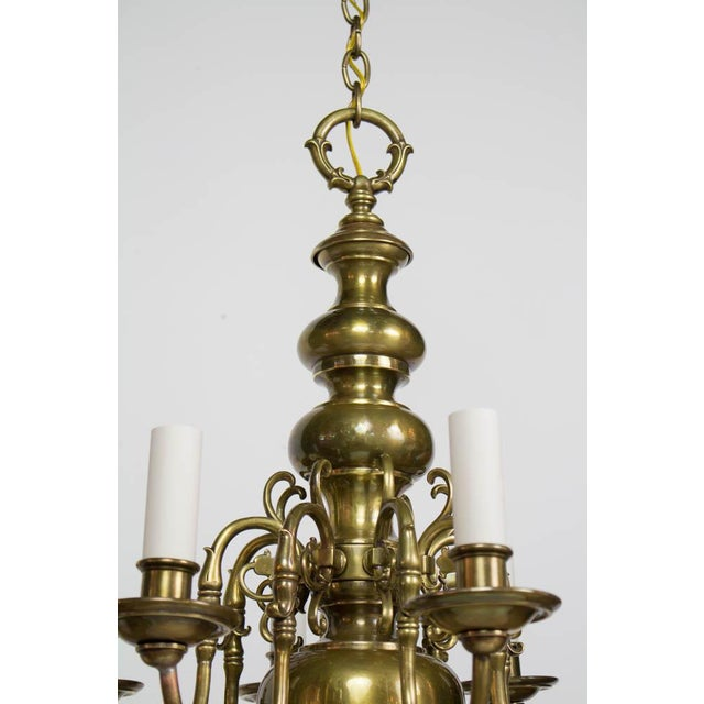 Early 20th Century Dutch Style Eight Arm Chandelier For Sale In Boston - Image 6 of 10
