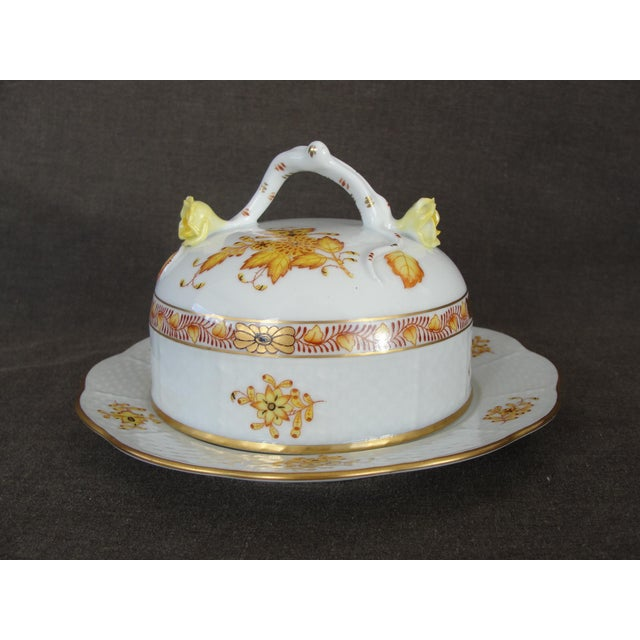 Herend Chinese Floral Butter Dish - Image 2 of 11