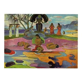 """Gauguin Vintage 1972 Lithograph Print """"The Day of the God"""" 1894"""