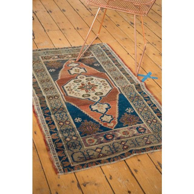 """Blue Vintage Oushak Rug - 2'8"""" x 4'2"""" For Sale - Image 8 of 10"""