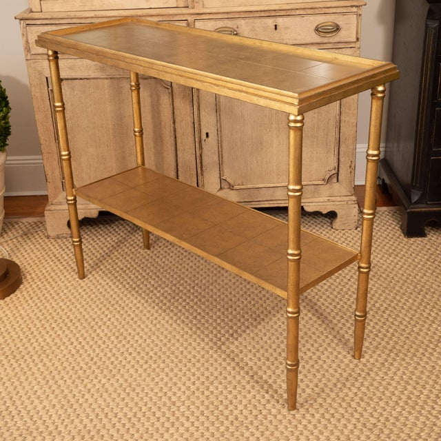 Not Yet Made - Made To Order Gold Console Table For Sale - Image 5 of 10