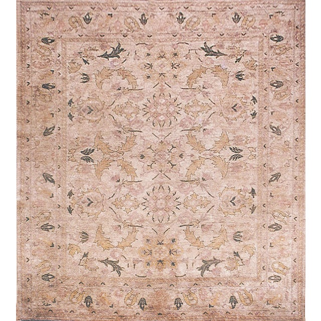 """Transitional Mansour Superb Quality Handwoven Agra Rug - 8'1"""" X 9'8"""" For Sale - Image 3 of 3"""