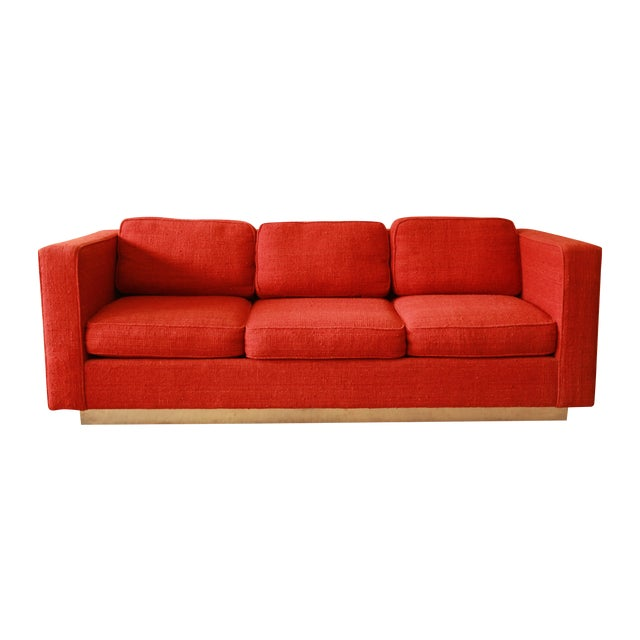 Milo Baughman Style Floating Sofa - Image 1 of 8