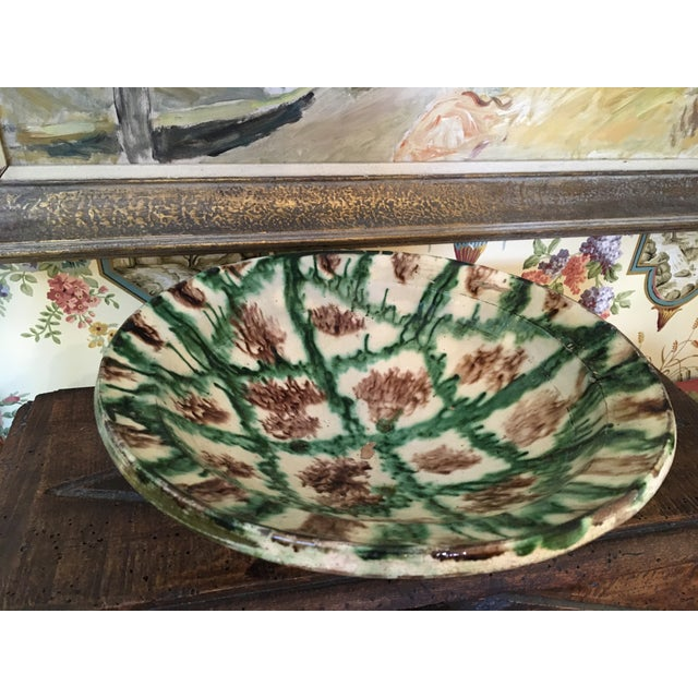 French Antique Pottery Glazed Bowl, South of France For Sale - Image 4 of 13