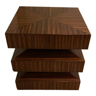 Contemporary Zebra Wood Side or End Table For Sale