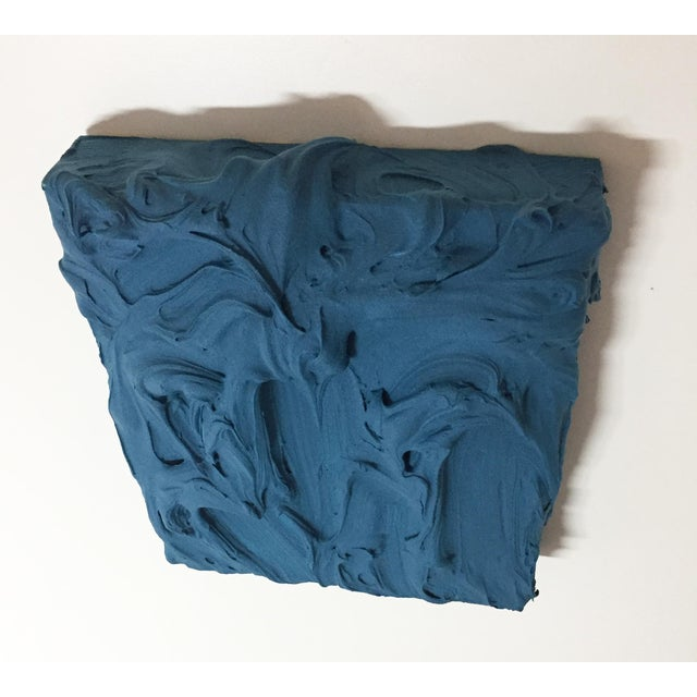 2020s Deep Teal Excess Sculptural Painting For Sale - Image 5 of 11