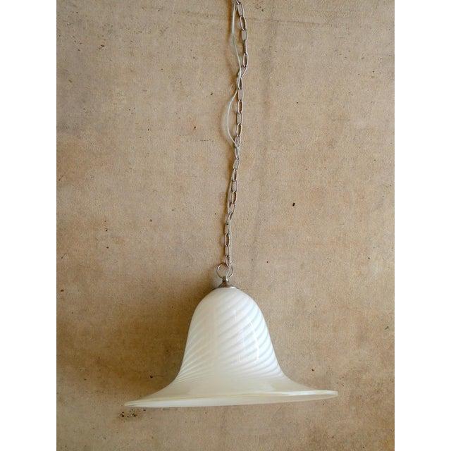 1960s 1960s Murano Art Glass Pendant Light Fixture For Sale - Image 5 of 10