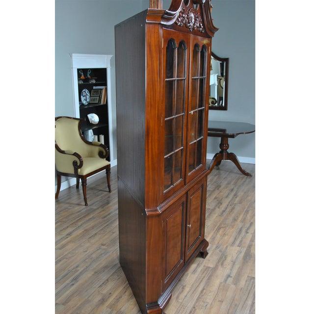 Carved Mahogany Corner Cabinet For Sale - Image 4 of 8