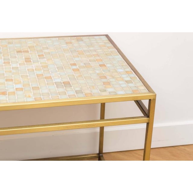Brass Tile-Top Console Table For Sale - Image 4 of 8