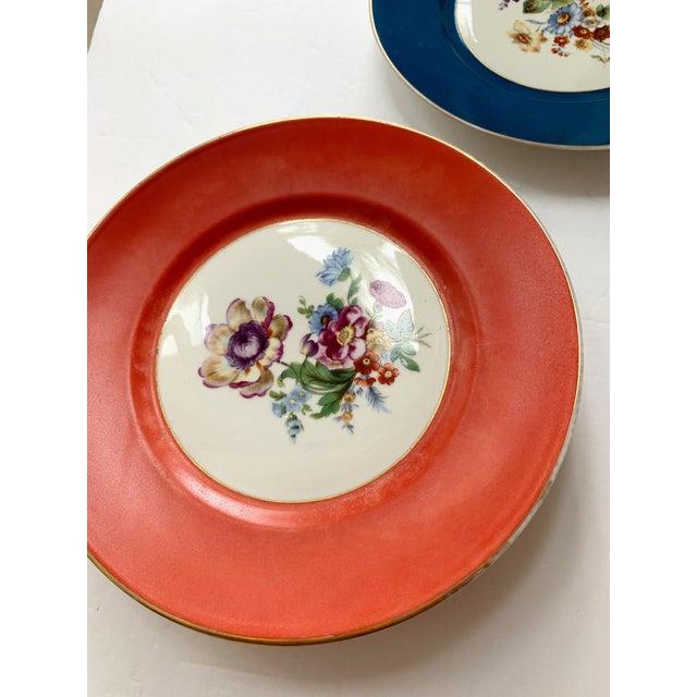 Vintage Richard Ginori Italy, Multicolored Porcelain Salad / Dessert Plates, Flower Patterns , Set of 5 For Sale - Image 9 of 13