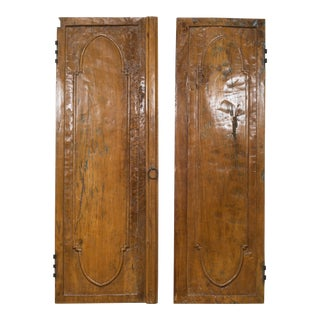19th C. Wooden Armoire Doors For Sale