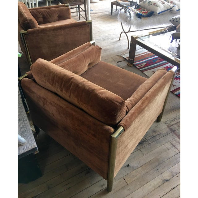 Milo Baughman-Style Brown Club Chairs - A Pair - Image 2 of 10
