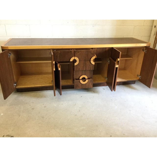 1980s Willy Rizzo Style Wood Credenza For Sale - Image 5 of 12