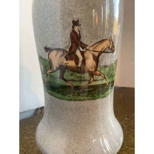 Illustration 1950s Equestrian Decal Table Lamp For Sale - Image 3 of 6