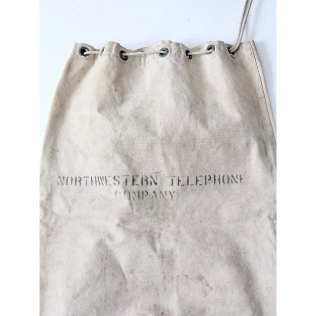White Vintage Northwestern Telephone Company Bag For Sale - Image 8 of 9