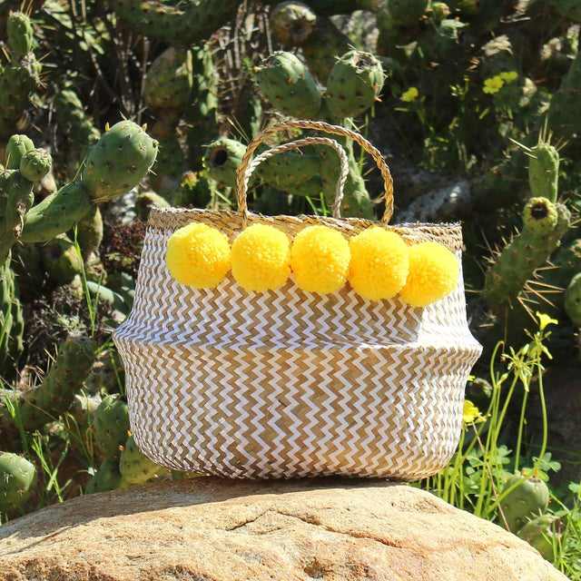 "Brunna ""Borrego X Borneo No. 2"" Boho Basket - Image 2 of 3"