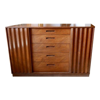 Edward Wormley Chest Designed for Dunbar with Sliding Front Doors, circa 1950s For Sale