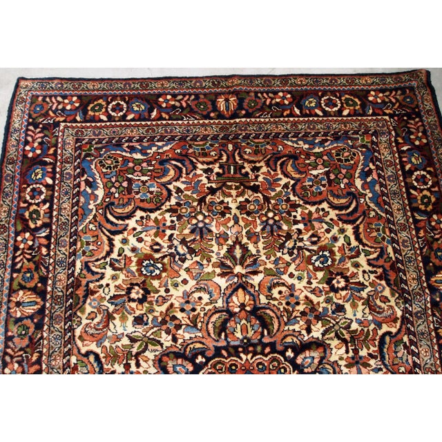 1900s, Handmade Antique Persian Sarouk Rug 3.1' X 5.2' For Sale - Image 10 of 12