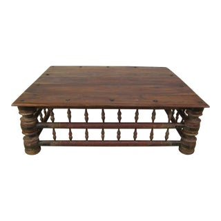Antique Indian Mango Wood Rustic Coffee Table For Sale