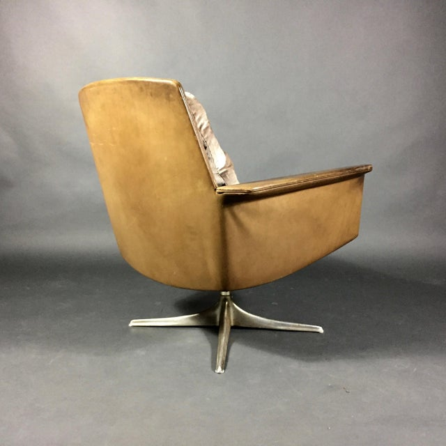 "1960s ""Sedia"" Leather Armchair by Horst Brüning for Cor Germany 1966 For Sale - Image 5 of 10"