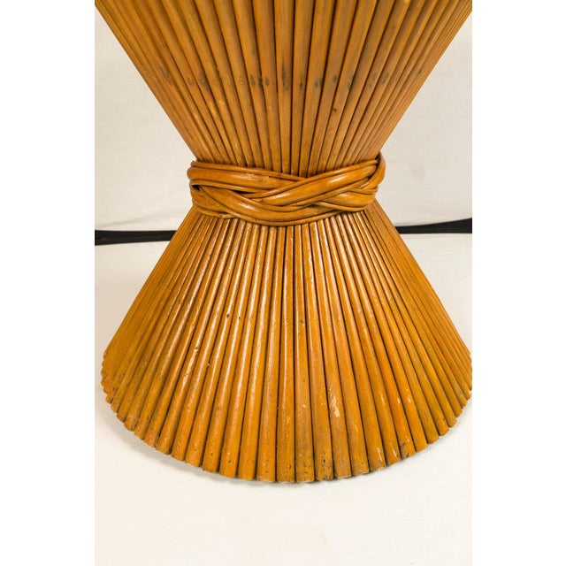 Mid-Century Modern Vintage McGuire Bamboo Pedestal Table For Sale - Image 3 of 10