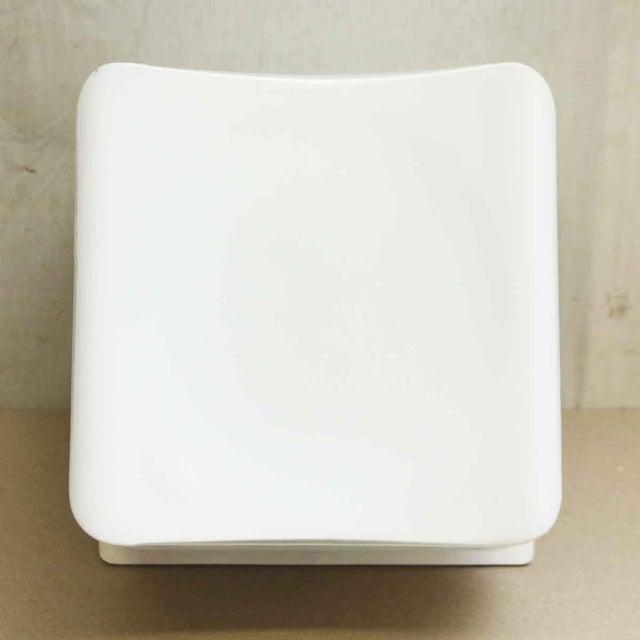 Glass Lumenform White Opaline Semi-Flush Light For Sale - Image 7 of 8