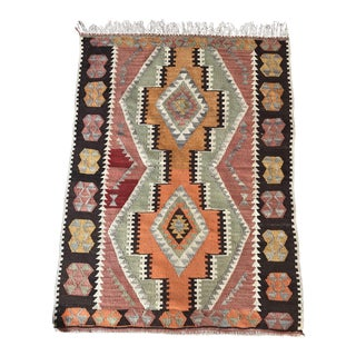 1930s Vintage Turkish Anatolian Kilim Rug For Sale